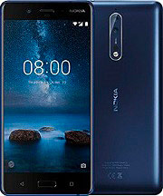 "Nokia 8 - Smartphone Android 5.3"" 64Gb 4G WiFi NFC GPS Blu 11NB1L01A06"