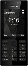 "Nokia 216DUALBK 216 Telefono Cellulare DUAL SIM 2.4"" GPRS GSM Radio FM Bluetooth"