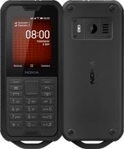 """Nokia 800TOUGBK 800 Tough Telefono Cellulare DUAL SIM 2.4"""" Radio FM GPS S.O Linux Nero"""