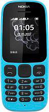 Nokia A00028344 105 - Telefono Cellulare Dual SIM GSM Dual Band Blu