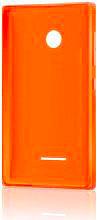 Nokia Cover Custodia guscio Microsoft Lumia 435  532 Col. Arancione CC-3096OR