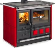 Nordica Extraflame 7015140 Cucina a Legna con Forno 8.5 kW Ghisa 107x66 Bordeaux ROSAXXL