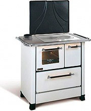Nordica Extraflame ROMANTICA 3.5 Cucina a Legna Forno 5 kW Ghisa 88x57 Bianco  Sx
