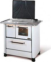Nordica Extraflame ROMANTICA 4,5 Cucina a Legna Forno 6 kW Ghisa 97x62 Bianco