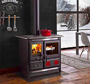 Nordica Extraflame ROSA L Cucina a Legna con Forno 8.1 kW Ghisa 97x67 Antracite