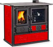 Nordica Extraflame ROSA Liberty Cucina a Legna con Forno 6.5 kW Ghisa Bordeaux