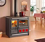 Nordica Extraflame ROSA XXL Cucina a Legna con Forno 8.5 kW Ghisa 100x66 cm Nero