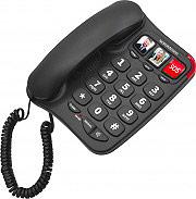 Nordmende Telefono Fisso con filo Tasti grandi Tasto SOS Vivavoce EASYHOME100.BK