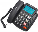 Nordmende Telefono Fisso con Filo Tasti grandi SOS Display grande EASYOME-200LCD