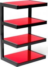 """Norstone Esse Red Mobile TV Hi-fi Peso Max 40 Kg Pollici Max 32"""" Nero  Rosso Esse Hifi"""