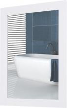 Nova Deco 2298 Specchio da Parete con Cornice in MDF e Vetro 52x1.9x72cm Bianco