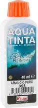 Nuovo Kolor AQUA 40-306 Aquatinta Per Interni ml 40 306 Arancio Pezzi 10