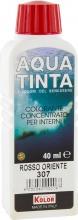 Nuovo Kolor AQUA 40-307 Aquatinta Per Interni ml 40 307 Rosso Oriente Pezzi 10