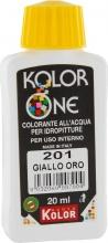 Nuovo Kolor KOLOR 20-201 Colorante Kolor One ml 20 N.201 Giallo Oro Pezzi 12