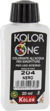 Nuovo Kolor KOLOR 20-204 Colorante Kolor One ml 20 N.204 Nero Pezzi 12