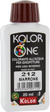 Nuovo Kolor KOLOR 20-212 Colorante Kolor One ml 20 N.212 Marrone Pezzi 12