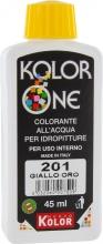 Nuovo Kolor KOLOR 45-201 Colorante Kolor One ml 45 N.201 Giallo Oro Pezzi 12