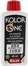 Nuovo Kolor KOLOR 45-202 Colorante Kolor One ml 45 N.202 Rosso Vivo Pezzi 12