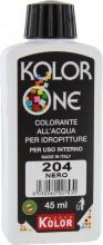 Nuovo Kolor KOLOR 45-204 Colorante Kolor One ml 45 N.204 Nero Pezzi 12