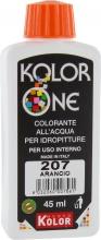 Nuovo Kolor KOLOR 45-207 Colorante Kolor One ml 45 N.207 Arancio Pezzi 12
