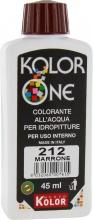 Nuovo Kolor KOLOR 45-212 Colorante Kolor One ml 45 N.212 Marrone Pezzi 12