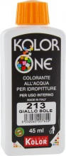 Nuovo Kolor KOLOR 45-213 Colorante Kolor One ml 45 N.213 Giallo Sole Pezzi 12