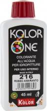 Nuovo Kolor KOLOR 45-216 Colorante Kolor One ml 45 N.216 Rosso Amaran. Pezzi 12