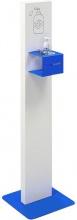 Oem TTCPIANTV-BLU Piantana Dispenser Igienizzante Alluminio Blu