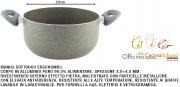 Officina Cucina Italiana I850609 Casseruola Antiaderente Sasso 2 Manici cm 24