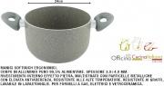 Officina Cucina Italiana I853853 Pentola Antiaderente Sasso 2 Manici cm 24