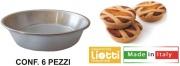 Oggettistica Liotti G049 Formina Pastierina cf 6 pz Alluminio cm 12x3h A.222