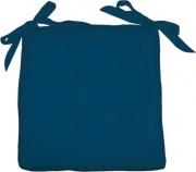 Olibò Cuscino Soft Blu Cuscino Soft con lacci 40x40xh6 cm Blu