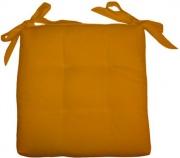 Olibò Cuscino Soft Giallo Cuscino Soft con lacci 40x40xh6 cm Giallo