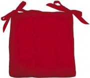 Olibò Cuscino Soft Rosso Cuscino Soft con lacci 40x40xh6 cm Rosso