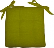 Olibò Cuscino Soft Verde Cuscino Soft con lacci 40x40xh6 cm Verde