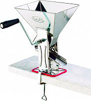 Omac 160 Passapomodoro Manuale cm 17x225x30 h in Acciaio Inox  Gulliver