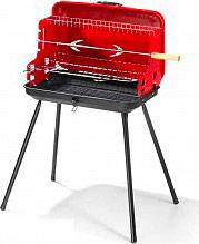Ompagrill 40099 Barbecue Carbone Portatile BBQ da Giardino Pieghevole pleinair 28-46