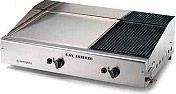 Ompagrill 4068M Barbecue Doppia Piastra a Gas ghisa e Acciaio Cappa paravento