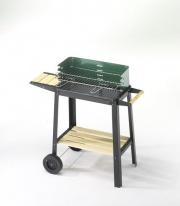 Ompagrill 50311 Barbecue Carbone Carbonella da giardino con Ruote - 50-25