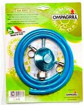 Ompagrill R3037 Regolatore di pressione con tubo per barbecue