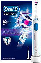 Oral-B Spazzolino elettrico Denti Ricaricabile Rotante Oscillante Pro600 3D White