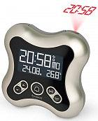 Oregon Scientific Orologio Sveglia Digitale Proiezione Ora Snooze Titanio RM331P