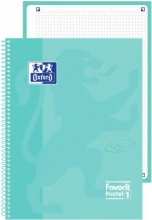 Oxford 400115568 Confezione 5 Maxi Spiralato Pastel1 A4 5 mm Azz