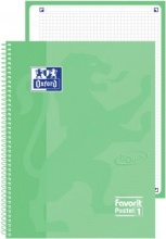 Oxford 400115590 Confezione 5 Maxi Spiralato Pastel1 A4 5 mm Ver