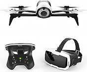 PARROT Drone camera Quadricottero 14 Mpx GPS 3 Assi Bianco PF726203AA Bebop 2