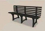 Pas ISOTTA ANTRACITE Panchina Giardino Plastica Panchina Esterno 148x53x75hcm IsottaANT