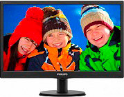 "PHILIPS 193V5LSB2 Monitor Display 18.5"" LED Wide HD Ready VGA Vesa Nero VLine"