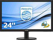 "PHILIPS Monitor PC LED 23,6"" Multimediale Full-HD 1920x1080px VGA 243V5LHAB"