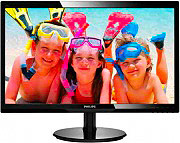 "PHILIPS 246V5LSB Monitor LED Display LED 24"" FullHD Contrasto 1000:1 Nero"