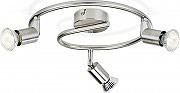 Philips 5030317E7 Plafoniera 3 Fari Orientabili GU10 Max 50 W Nickel Limbali Essentials